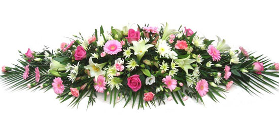 Funeral Coffin Spray Pink and Cream.jpg.